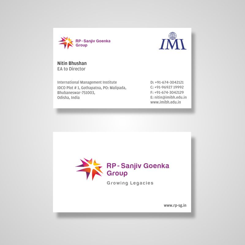 american size business card